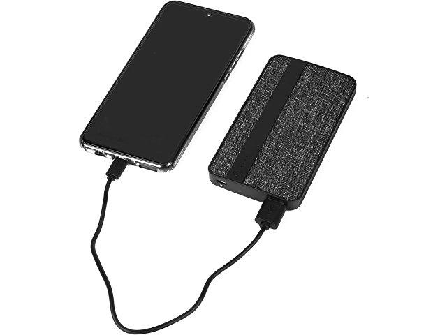Зарядное устройство из ткани, 4000 mAh, черный