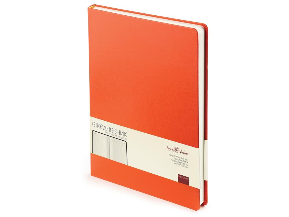 Ежедневник недатированный  А4 Megapolis оранжевый