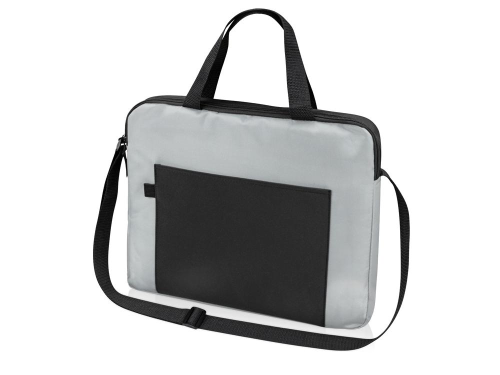 Конференц сумка для документов Congress, серый/черный