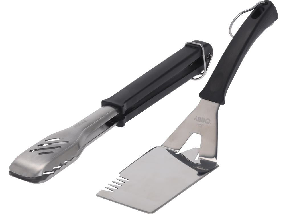 Набор аксессуаров для барбекю из двух предметов Grill, серебристый/черный
