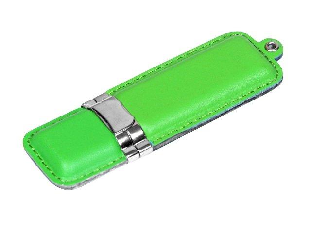 Флешка классической прямоугольной формы, 64 Гб, зеленый