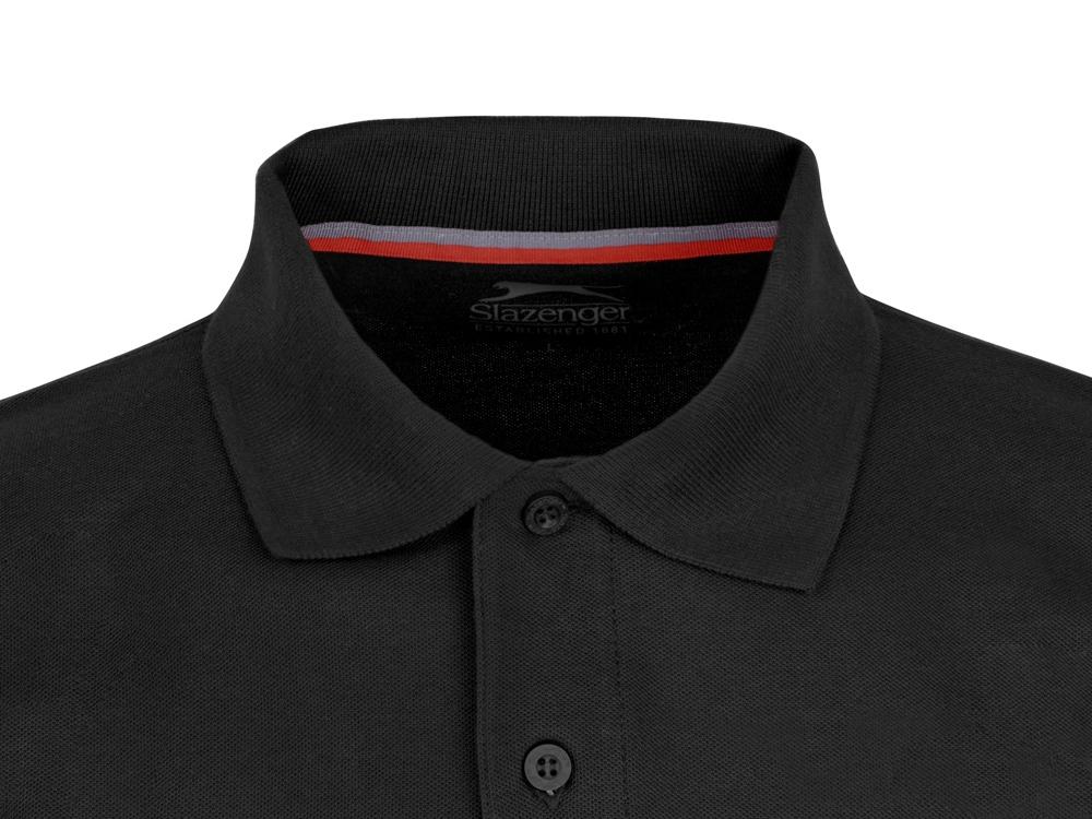 Рубашка поло Point мужская с длинным рукавом, черный
