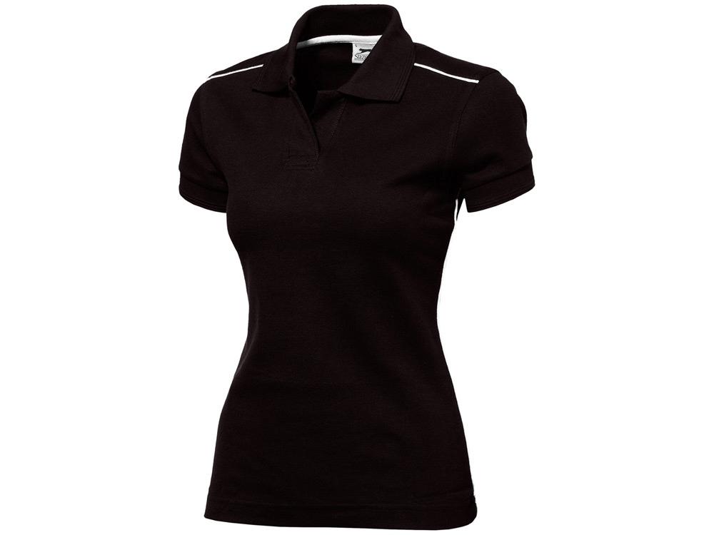 Рубашка поло Backhand женская, черный/белый