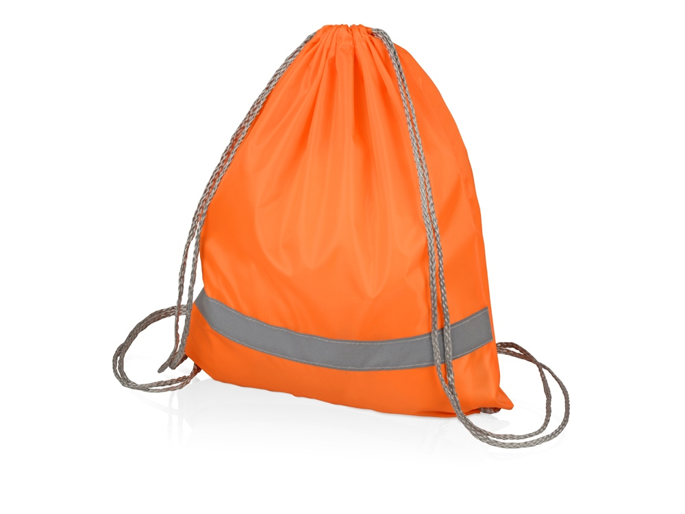 Рюкзак Россел, оранжевый с серыми шнурками