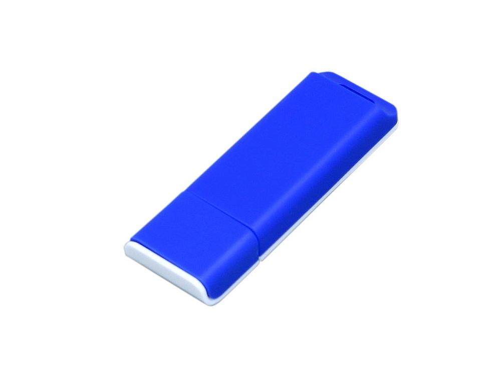 Флешка прямоугольной формы, оригинальный дизайн, двухцветный корпус, 16 Гб, синий/белый