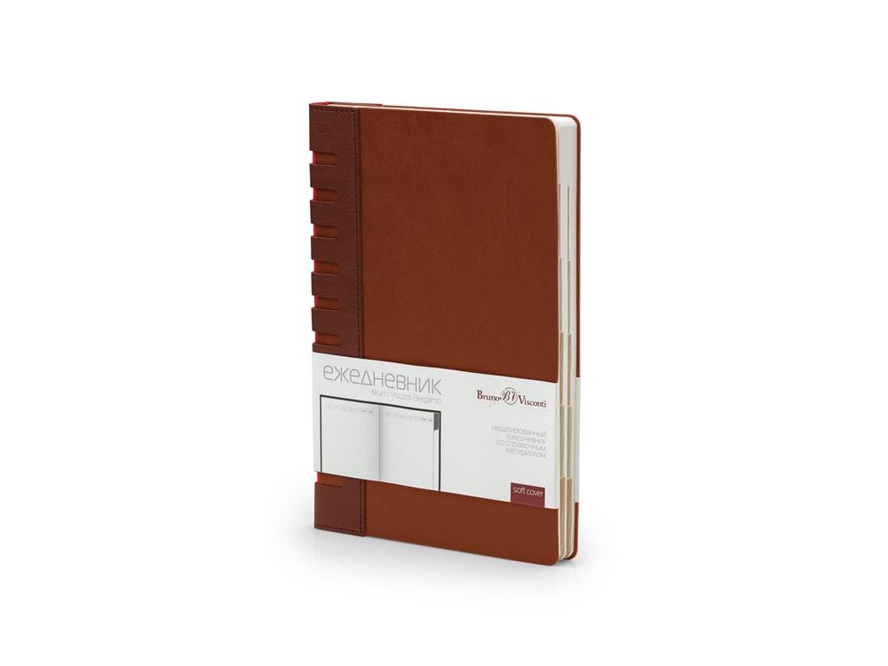 Ежедневник недатированный с индексами А5 Bergamo, коричневый