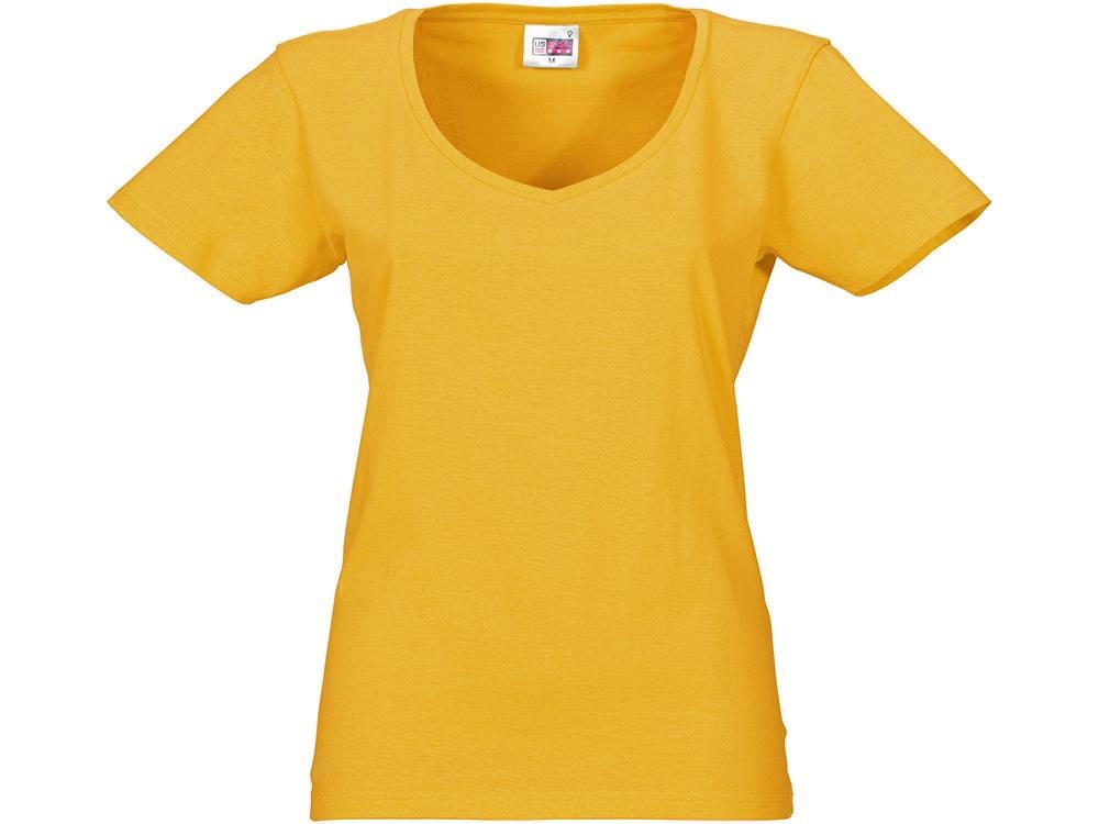 Футболка Heavy Super Club женская с V-образным вырезом, золотисто-желтый