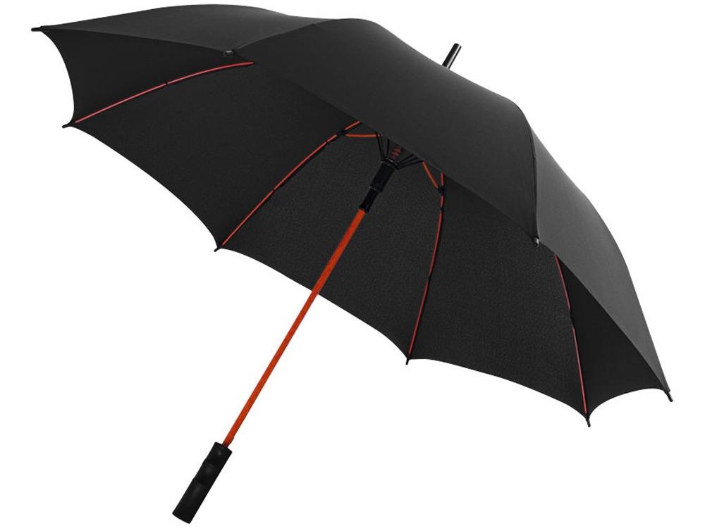 Зонт трость Spark полуавтомат 23, черный/красный
