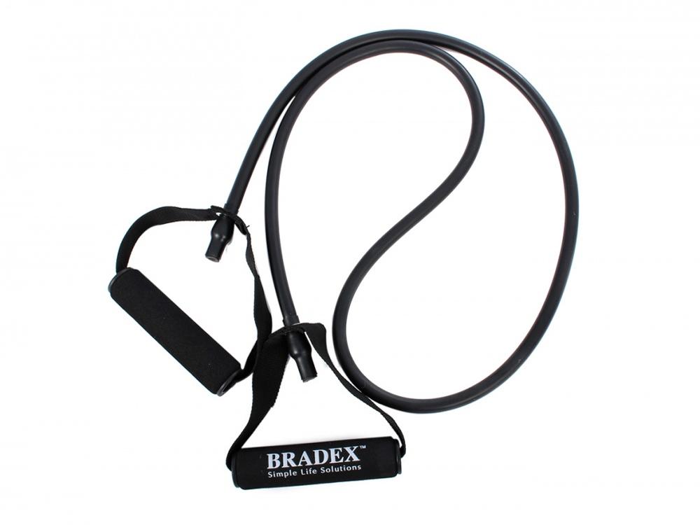 Эспандер трубчатый с ручками, нагрузка до 13,5 кг, черный