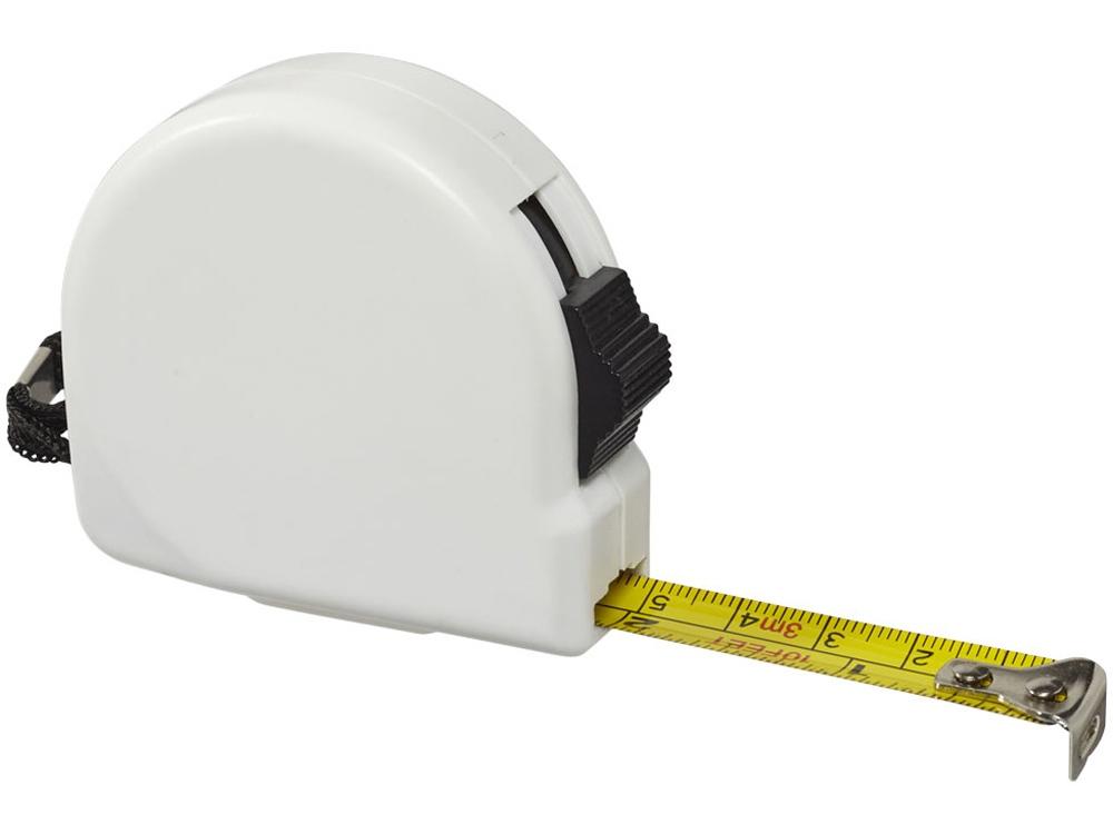 Рулетка Clark 3м, белый