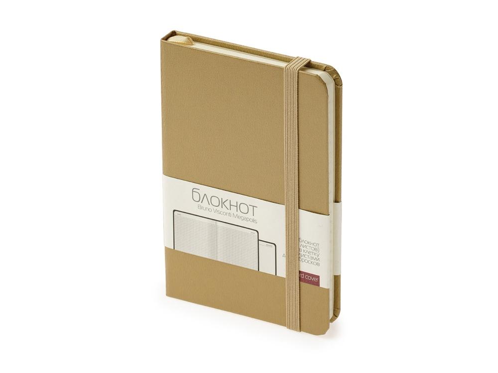 Блокнот А6 Megapolis Journal, золотистый
