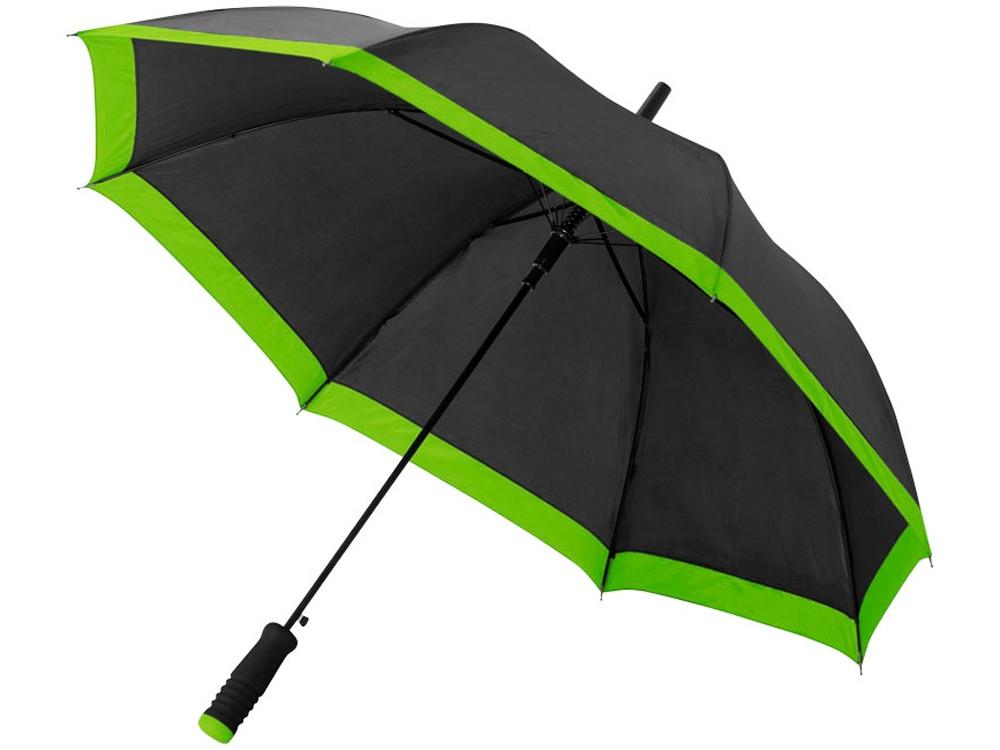Зонт-трость Kris 23 полуавтомат, черный/лайм
