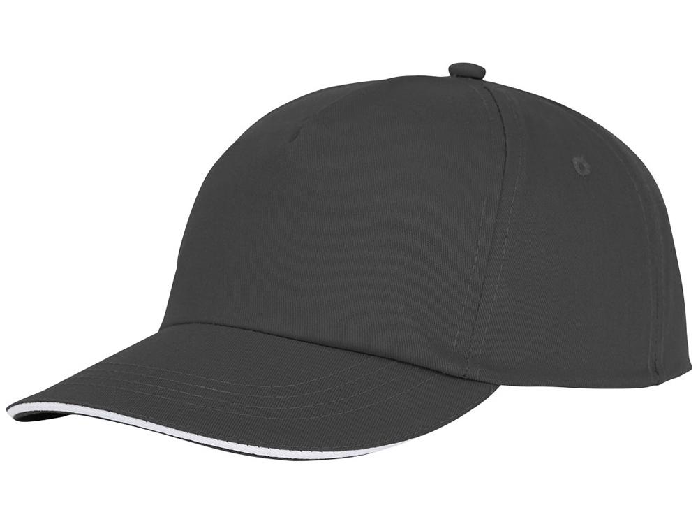 Пятипанельная кепка-сендвич Styx, серый