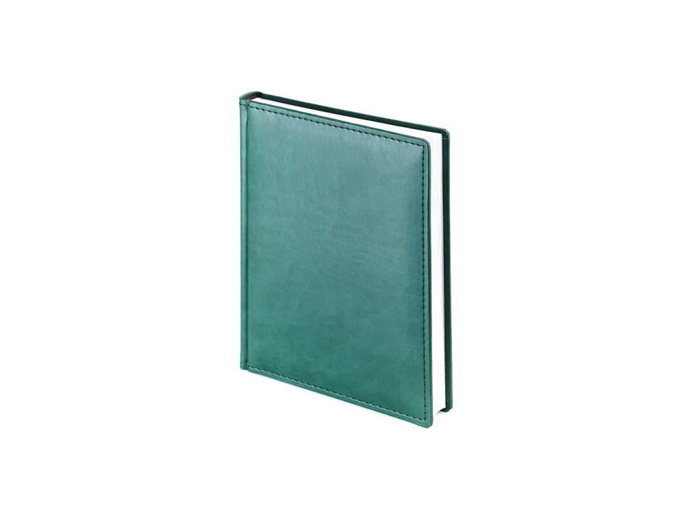Ежедневник недатированный А6+ Velvet, зеленый