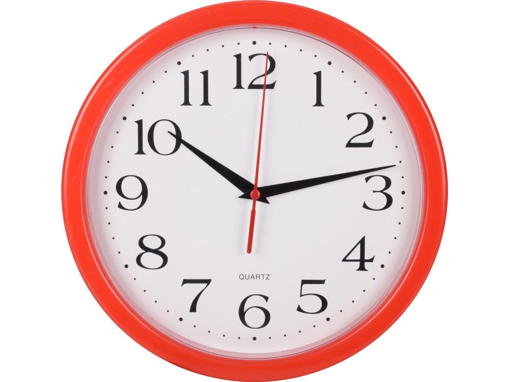 Часы настенные Attendee, красный