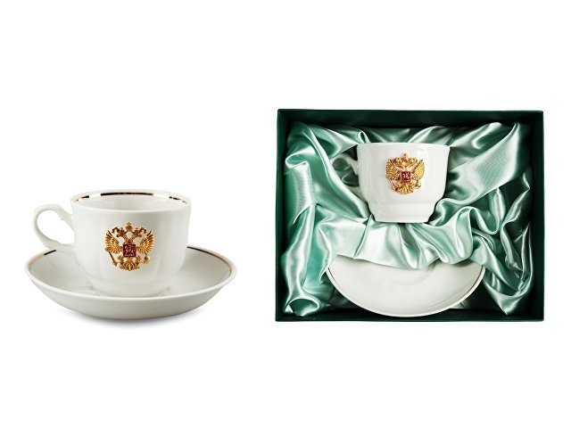 Чайная пара фарфоровая «Российская» (арт. 16711)