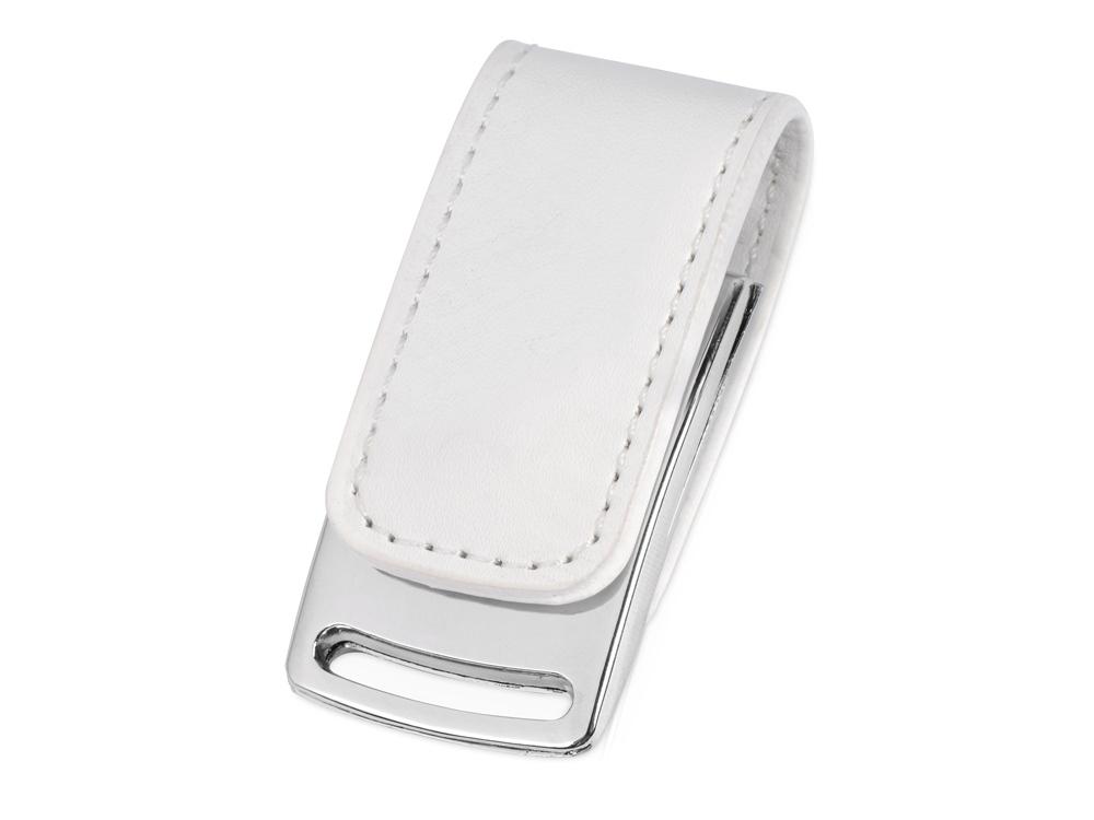 Флеш-карта USB 2.0 16 Gb с магнитным замком Vigo, белый/серебристый