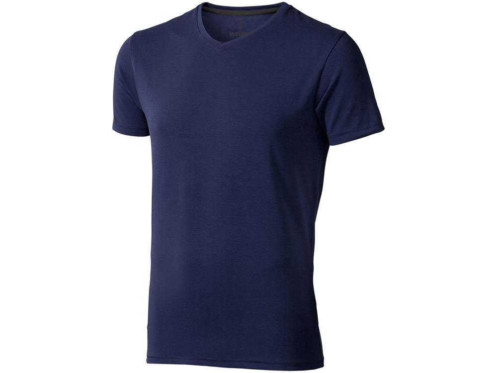Футболка Kawartha мужская с V-образным вырезом, темно-синий