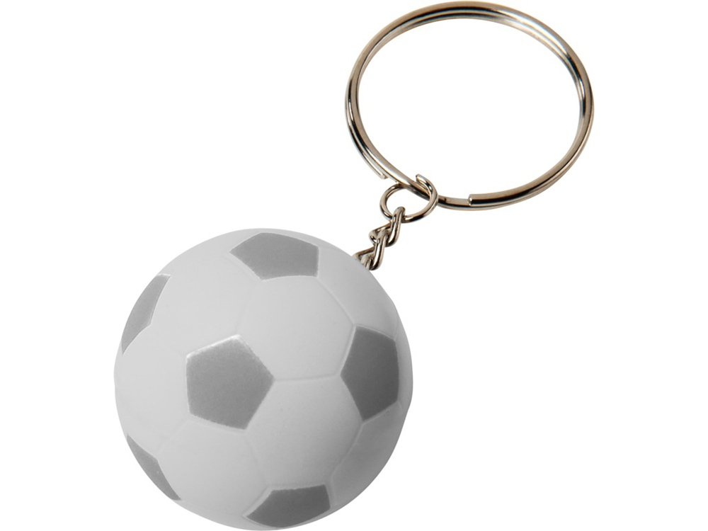 Футбольный брелок Striker, белый/серебристый