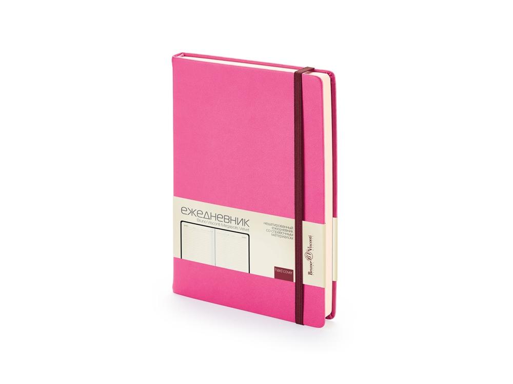 Ежедневник А5 недатированный Megapolis Velvet, розовый