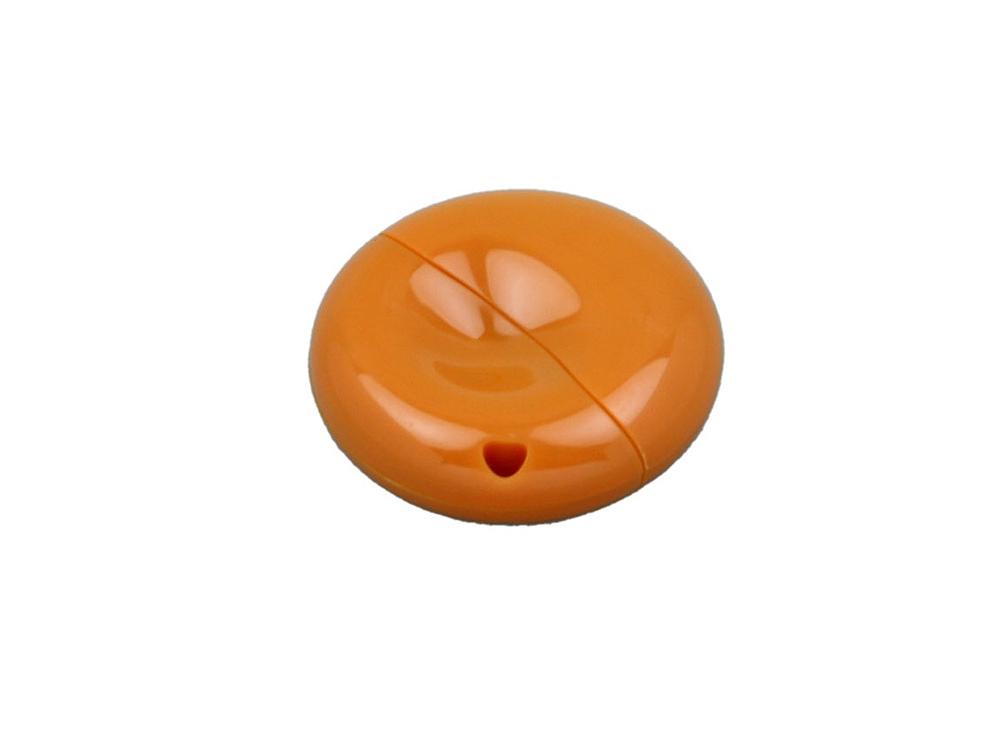 Флешка промо круглой формы, 64 Гб, оранжевый