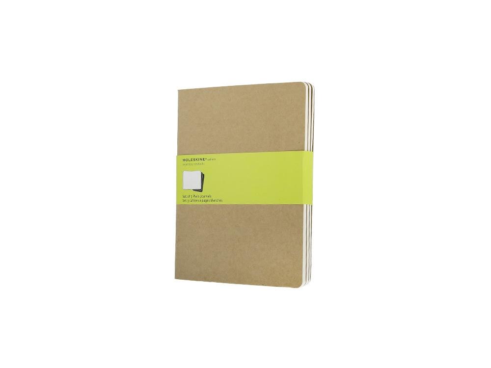 Записная книжка Moleskine Cahier (нелинованный, 3 шт.), ХLarge (19х25см), бежевый