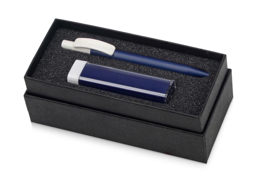 Подарочный набор White top с ручкой и зарядным устройством, синий