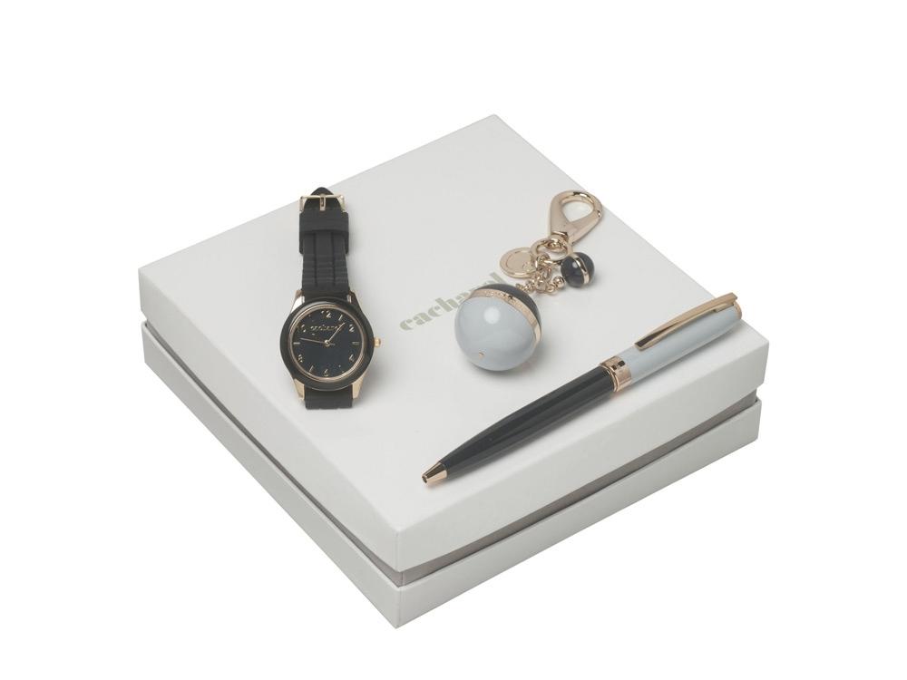 Подарочный набор Bird: брелок, часы наручные, ручка шариковая. Cacharel