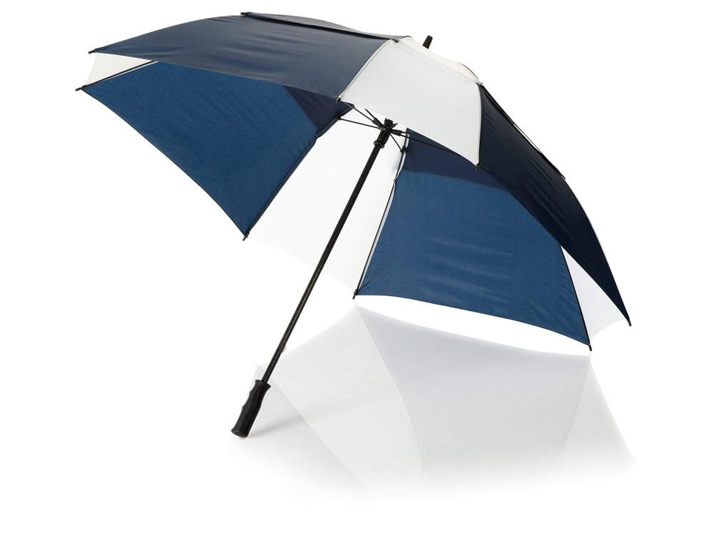 Зонт трость Helen, механический 30, синий/белый