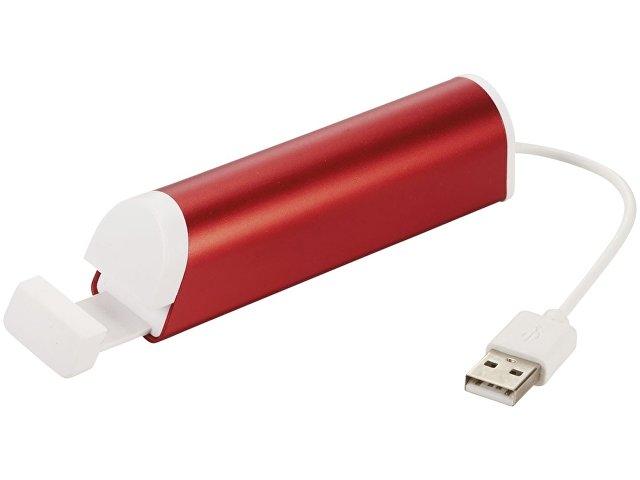 ЮСБ хаб с 4 портами и подставка для телефона, красный