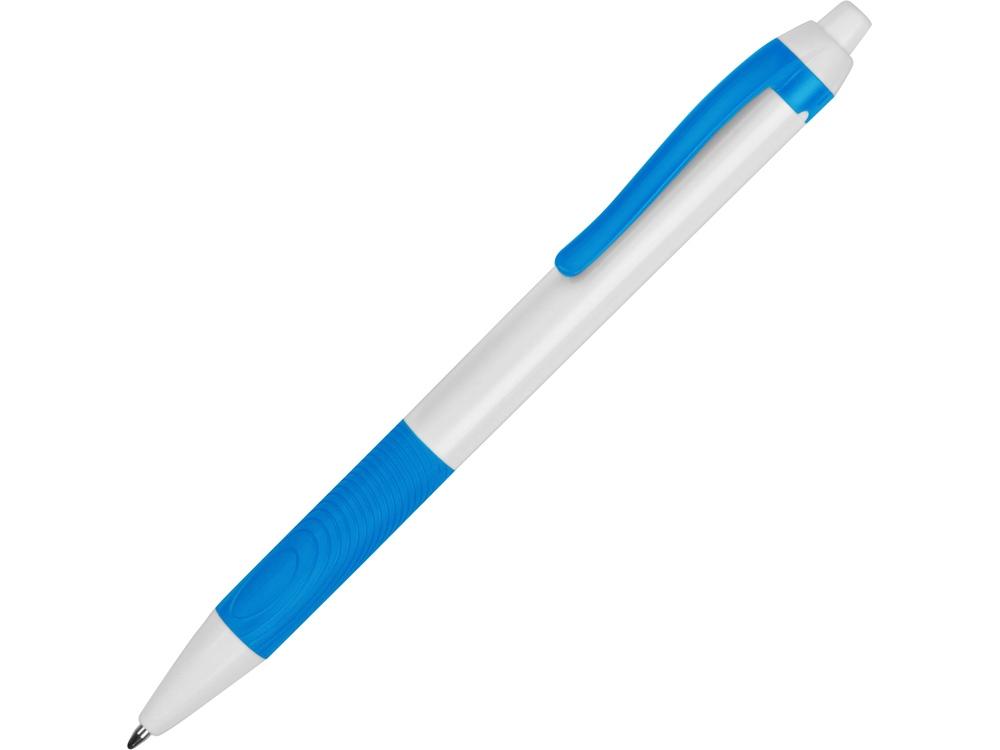 Ручка пластиковая шариковая Centric, белый/голубой