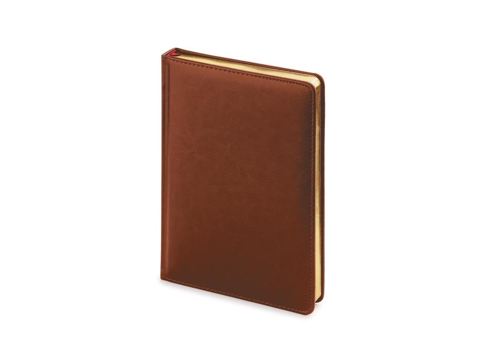 Ежедневник А5 датированный Sidney Nebraska 2020, коричневый