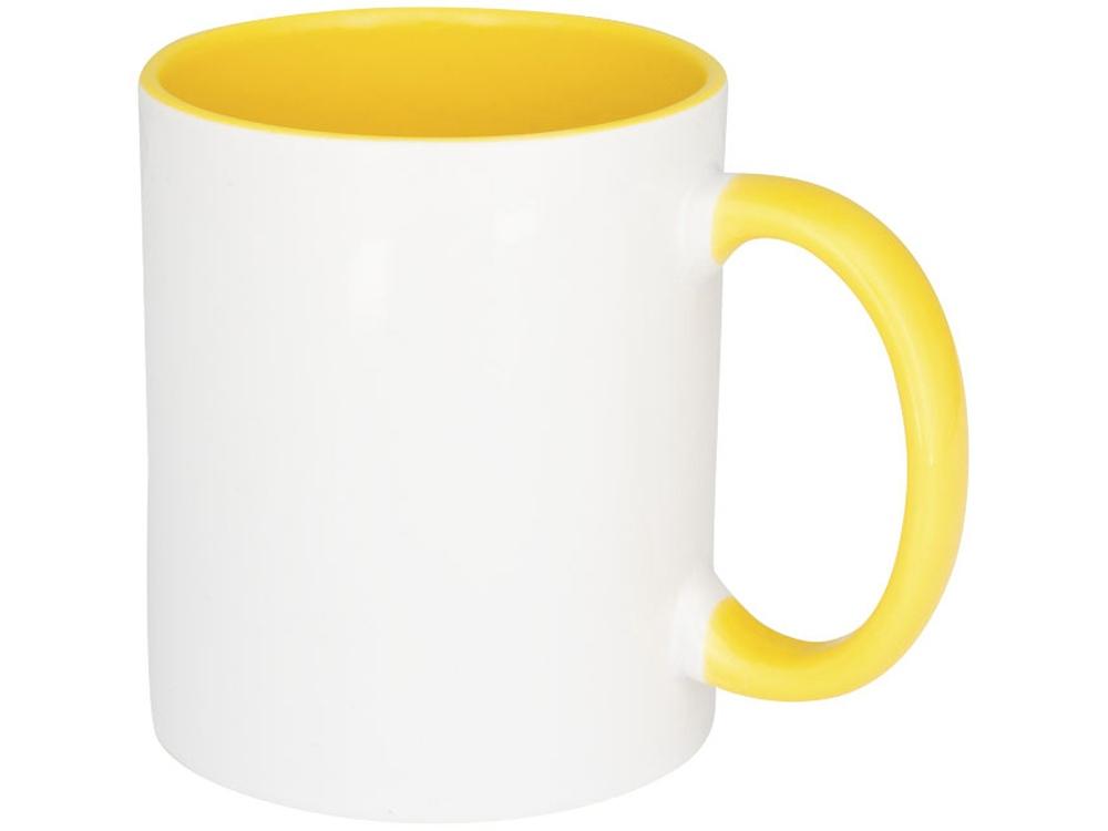 Цветная кружка Pix для сублимации, белый/желтый