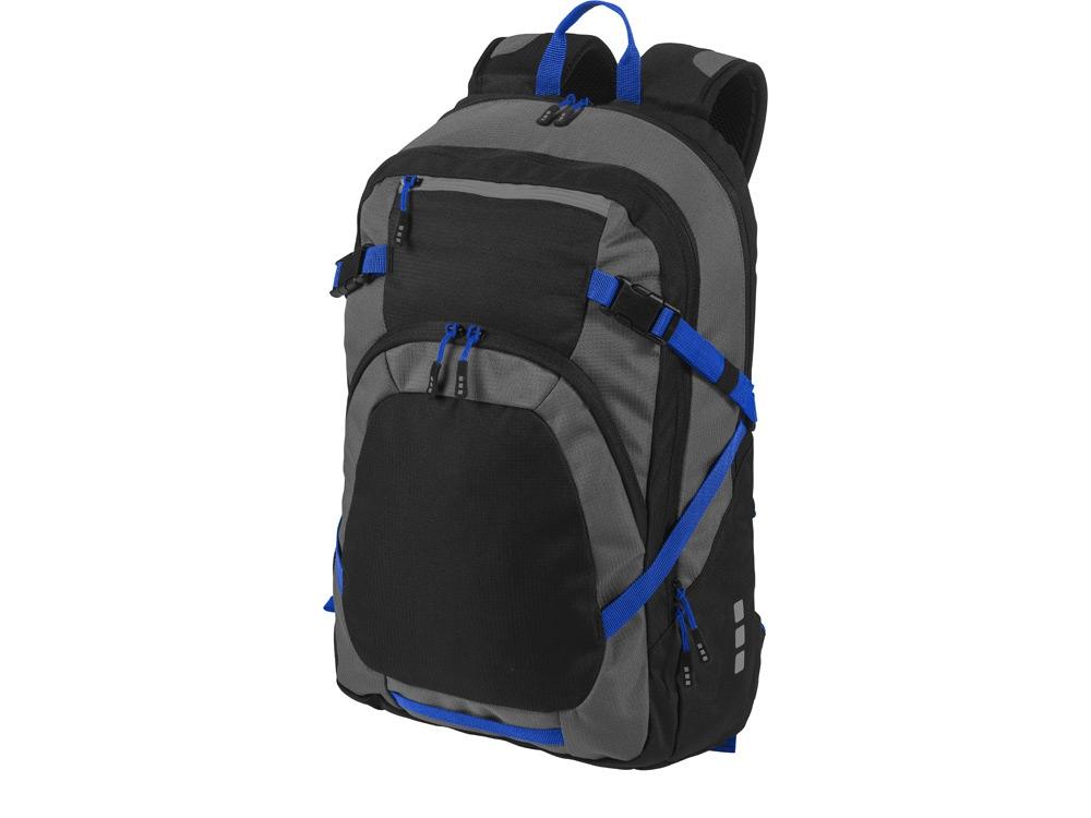 Рюкзак Milton для ноутбука 14, черный/темно-серый/ярко-синий