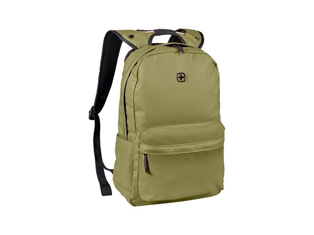 Рюкзак WENGER 18 л с отделением для ноутбука 14'' и с водоотталкивающим покрытием, оливковый