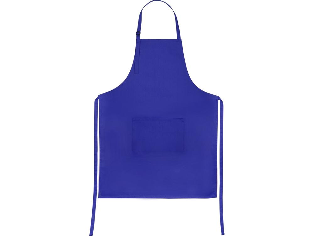 Хлопковый фартук 180gsm, синий