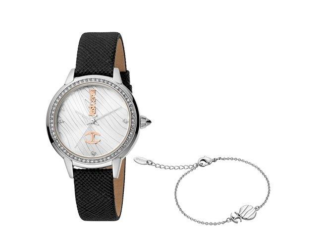 Подарочный набор: часы наручные женские, браслет (арт. 60025)