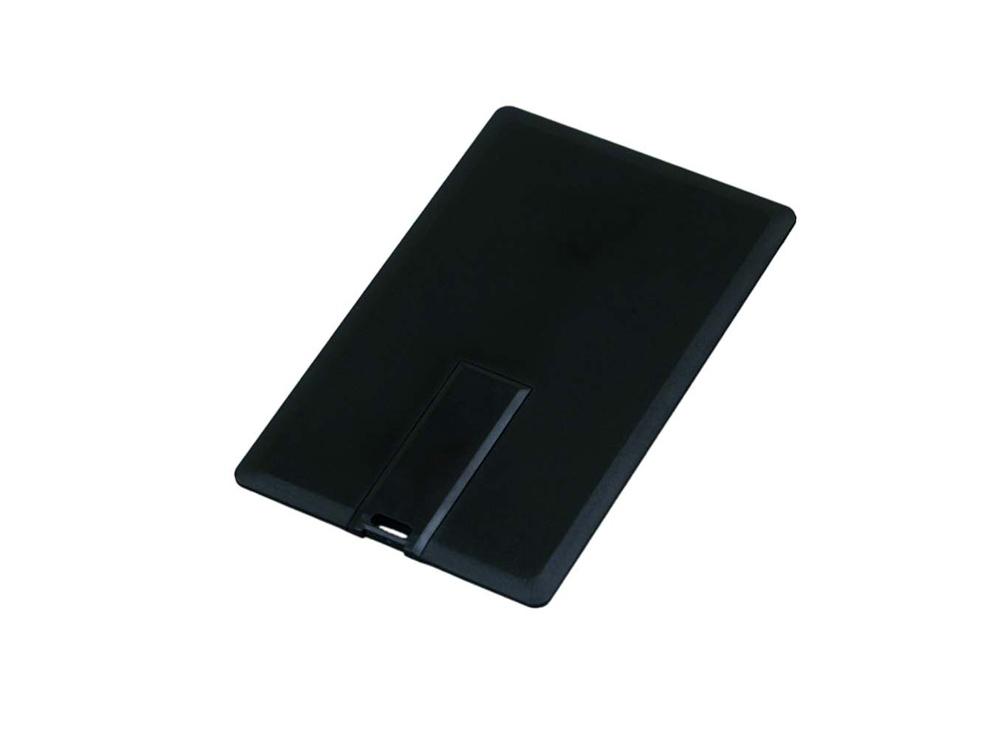 Флешка в виде пластиковой карты, 64 Гб, черный