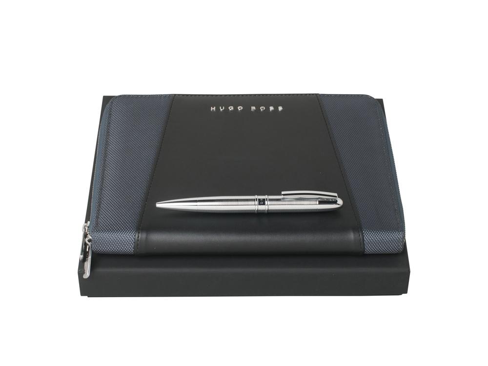 Подарочный набор: ручка шариковая, блокнот А5. Hugo Boss