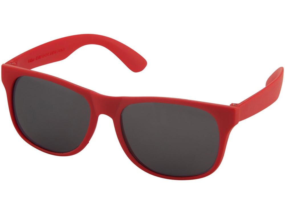 Солнцезащитные очки Retro - сплошные, красный