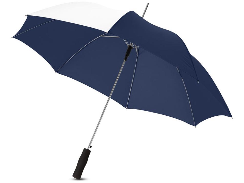 Зонт-трость Tonya 23 полуавтомат, темно-синий/белый