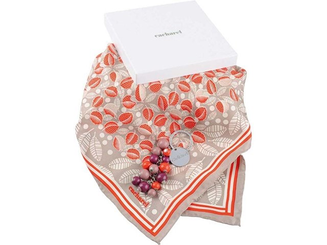 Набор: брелок, платок шелковый (арт. 95401pd)