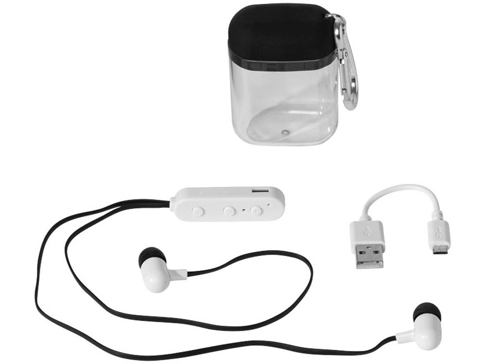 Наушники с функцией Bluetooth® с чехлом с карабином, черный