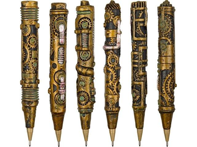 Набор: ручки шариковые в стиле стимпанк с подставкой