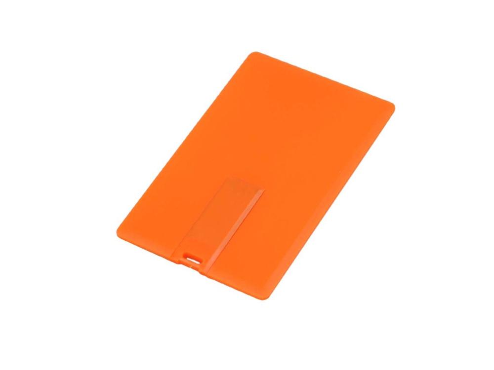 Флешка в виде пластиковой карты, 64 Гб, оранжевый