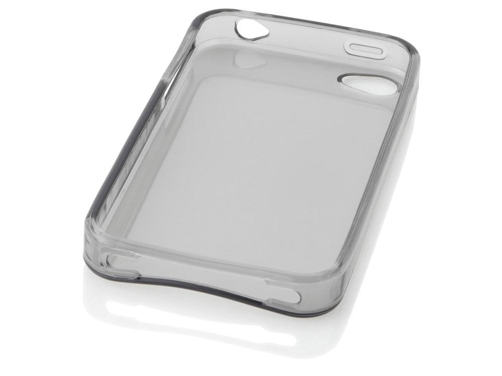 Чехол для Iphone 4/4S Скин, черный прозрачный