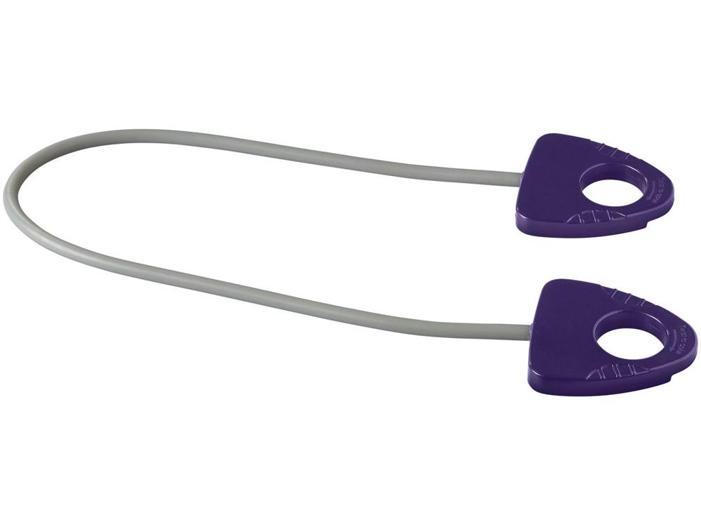 Резинка для занятий йогой Dolphin с ручкой, пурпурный