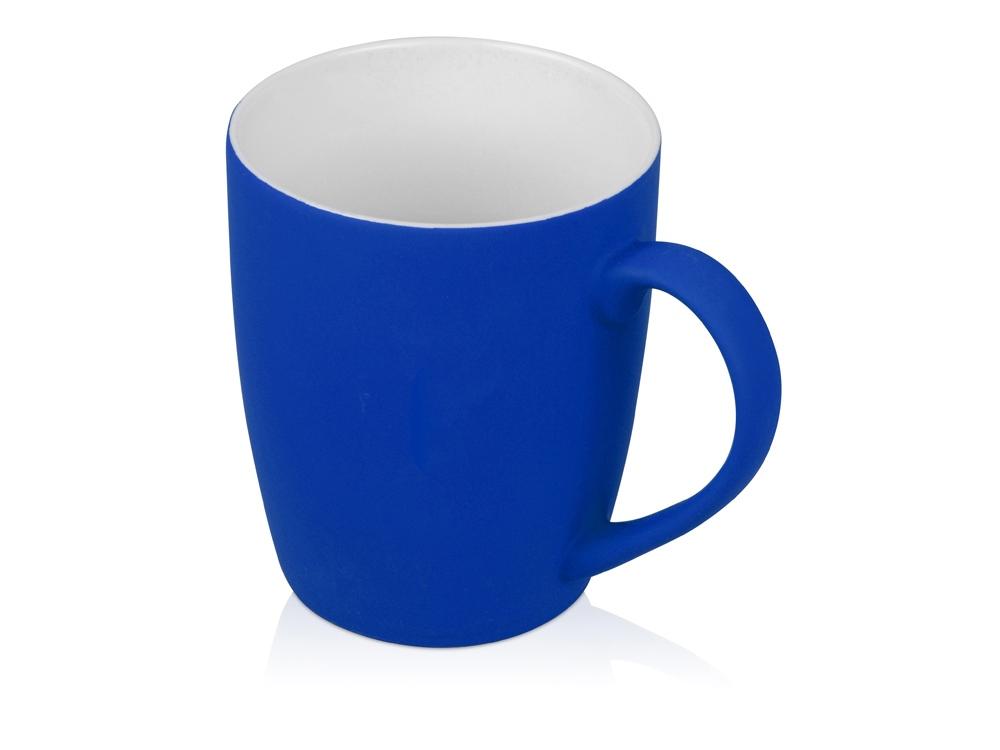 Кружка керамическая с покрытием софт тач синяя