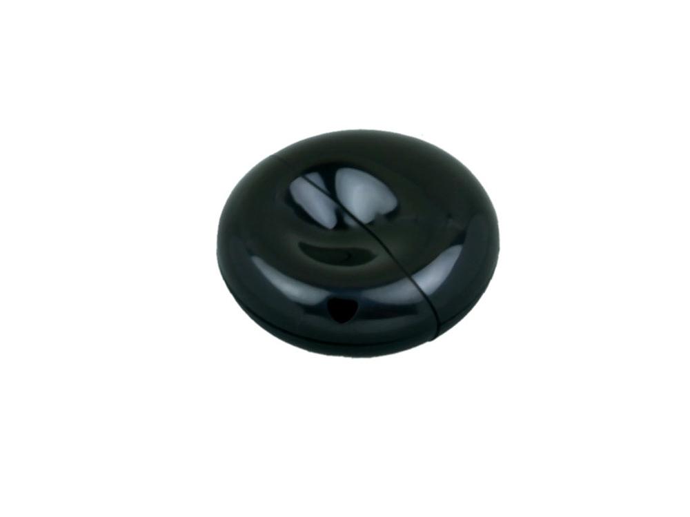 Флешка промо круглой формы, 32 Гб, черный