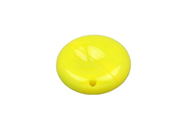 Флешка промо круглой формы, 64 Гб, желтый